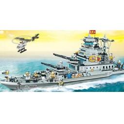 фото Конструктор Banbao Военный корабль, 1700 деталей