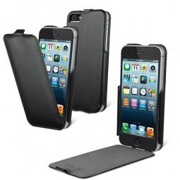 фото Чехол и пленка на экран Muvit Slim Snow для iPhone 5. Цвет: черный