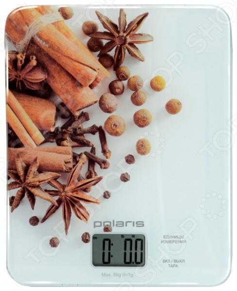 Весы кухонные Polaris PKS0832DG. Рисунок: специи