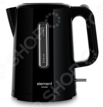 Чайник Element ElKettle WF01PBЧайники электрические<br>Удобный и простой в использовании чайник Element El 39;Kettle WF01PB изготовлен из высококачественного термостойкого пластика. Благодаря мощности в 1850-2200 Вт и нагревательному элементу скрытого типа, он быстро вскипятит воду объемом до 1,7 литров. На рынке бытовой техники этот прибор пользуется неизменной популярностью благодаря высокому качеству, безопасности и удобству в использовании. Модель оснащена индикатором включения выключения, шкалой уровня воды и фильтром против накипи. Цоколь с центральным контактом позволяет поворачивать прибор на 360 . В целях безопасности имеются функции блокировки включения без воды и автоматического выключения при закипании. Благодаря стильному дизайну, чайник Element El 39;Kettle WF01PB впишется в любую современную кухню.<br>
