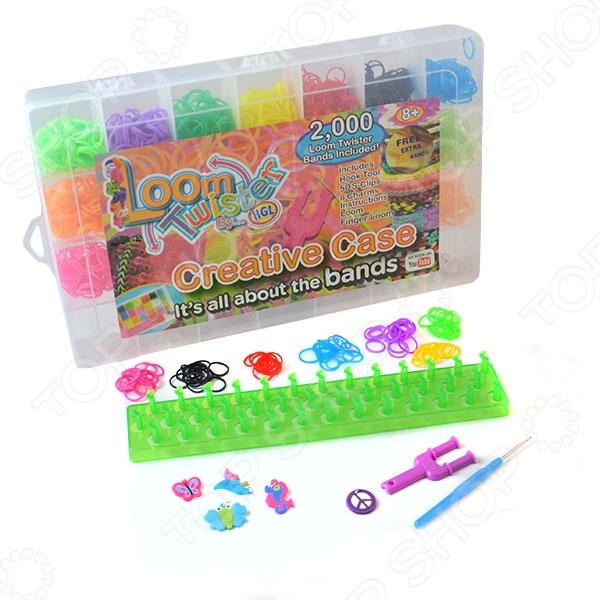 Набор цветных резинок для плетения фенечек Loom Twister SV11617 набор для плетения фенечек fashion angels школа монстров