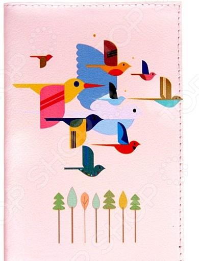 Обложка для автодокументов Mitya Veselkov «Птицы» AUTOZAM243 обложка для автодокументов кожаная mitya veselkov гагарин