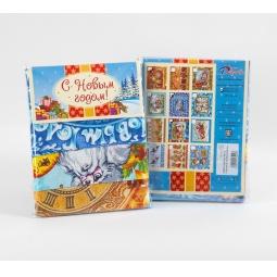 фото Комплект из 3-х кухонных полотенец новогодний ТексДизайн «Письмо Деду Морозу, В гостях у сказки, Куранты»