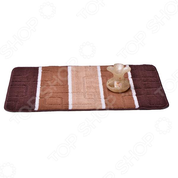 Коврик для ванной Dasch «Авангард»Коврики<br>Коврик для ванной Dasch Авангард добавит уют в вашу ванную комнату. Также, это изделие обеспечит безопасность, предотвращая скольжение на мокрой плитке. Коврик обладает мягким упругим ворсом, изготовленным из 100 полипропилена. Основание изделия состоит из латекса, который на скользит на гладких поверхностях и подходит для пола с подогревом. Коврик подходит для машинной стирки, не линяет и не скатывается. Ворс быстро впитывает влагу и также быстро сохнет. Яркий дизайн оживит интерьер ванной комнаты и поможет содержать ноги в тепле на холодном полу.<br>