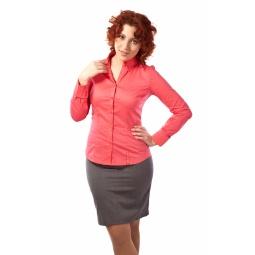 фото Рубашка Mondigo XL 9604. Цвет: коралловый. Размер одежды: 48
