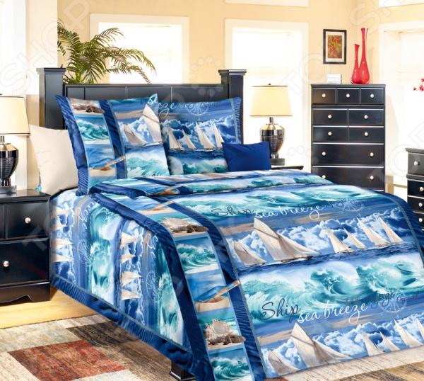 Комплект постельного белья ТексДизайн «Морской бриз». 1,5-спальный