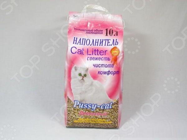 Наполнитель для кошачьего туалета Pussy-cat древесный