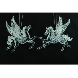 фото Елочное украшение Crystal Deco «Лошадка». В ассортименте. Цвет: серебристый