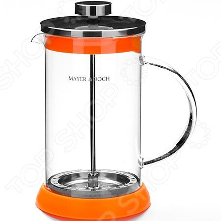 Френч-пресс Mayer&amp;amp;Boch MB-21250. В ассортиментеФренч-прессы<br>Цвет товара представлен в ассортименте. Вид изделия при комплектации заказа зависит от наличия товарного ассортимента на складе. Френч-пресс Mayer Boch MB-21250 - современное устройство с помощью которого можно быстро и легко заварить кофе или чай. Напиток настаивается, а за тем с помощью специального поршня - отжимается. Модель очень удобна и практична в использовании: напитки и воду легко засыпать и заливать в френч-пресс, а так же его очень удобно мыть. Стеклянная колба выполнена из высококачественного жаропрочного стекла, а основание и крышка из нержавеющей стали. С френч-прессом вы в любой момент сможете насладиться свежим и ароматным напитком.<br>
