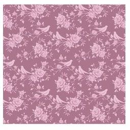 фото Отрез ткани Tilda Птички и розы. Цвет: сиреневый