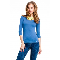 фото Кофта Mondigo 023. Цвет: джинсовый. Размер одежды: 46