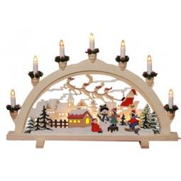 Купить Декорация с подсветкой Star Trading 270-07 «Снеговик»
