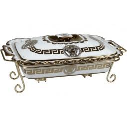 фото Форма для горячих блюд Rosenberg 9334. Рисунок: золотые узоры