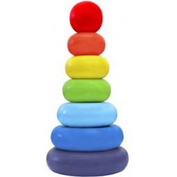 Купить Игрушка-пирамидка Alatoys «Колечки» 050107