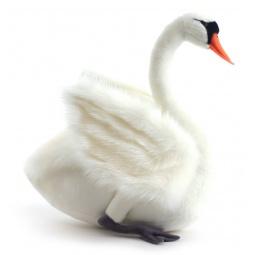 фото Мягкая игрушка для ребенка Hansa «Лебедь белый»