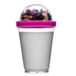 фото Кружка Sagaform для йогурта. Цвет: прозрачный, розовый