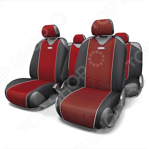Набор чехлов-маек для сидений Autoprofi CRB-802 Carbon капелла с 802 листья в москве