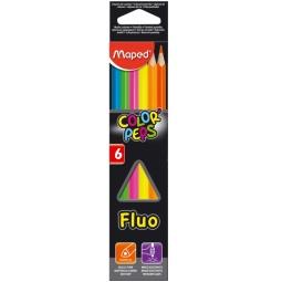 фото Набор цветных треугольных карандашей Maped Fluo
