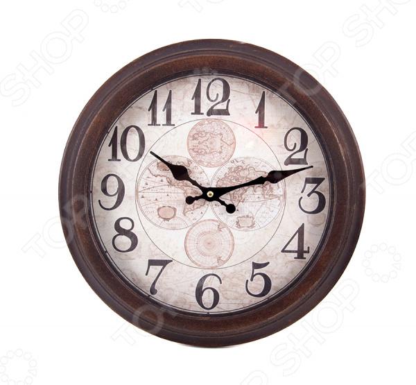 Часы настенные 29635Часы настенные<br>Часы настенные 29635 оригинально выполненные часы, украшенные декоративными элементами, станут прекрасным дополнением комнаты или офиса. Часы преобразят интерьер и придадут особую атмосферу. Имеют кварцевый механизм. Работают от батареек типа АА в комплект не входят . Рекомендуется регулярно удалять пыль сухой, мягкой тканью.<br>