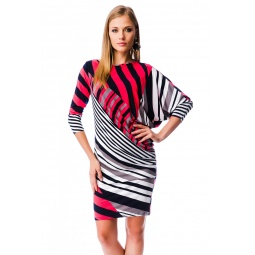 фото Платье Mondigo 6148. Цвет: коралловый. Размер одежды: 44