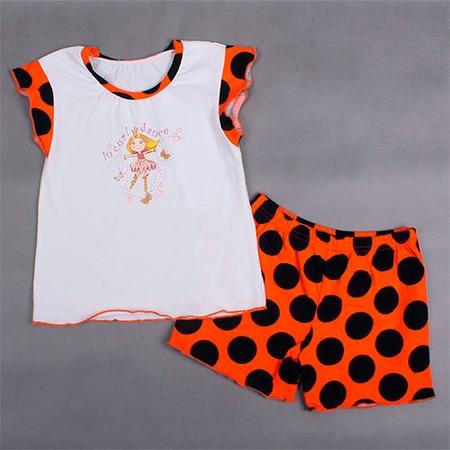 Купить Пижама Fenice ЯВ120810. Цвет: оранжевый, белый