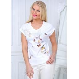 фото Футболка женская BeGood SS15-UER-LTS-892. Цвет: белый. Размер одежды: 52