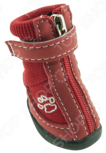 Обувь для собак DEZZIE Рэд интересная вещь, с помощью которой вы обеспечите вашему питомцу нужный комфорт во время прогулок. Обувь разработана с учетом анатомических особенностей животных, плотно облегает лапу, имеет застежку с язычком-фиксатором для защиты шерсти при застегивании. Резиновая подошва не скользит по льду и не даст лапам промокнуть зимой. Обувь смотрится очень мило, при этом прекрасно сохраняет форму при носке. Из представленного ассортимента можно выбрать размер.