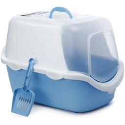 фото Домик-туалет для кошек Beeztees Cathy. Цвет: голубой, белый