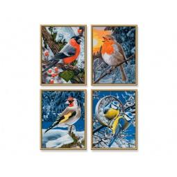 Купить Набор для рисования по номерам Schipper «Птицы зимой»