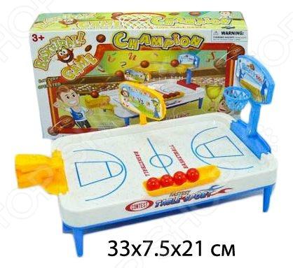 Баскетбол настольный со светозвуковыми эффектами Shantou Gepai 626110 представляет собой увлекательную игру для девочек и мальчиков, главной задачей которой является забросить в кольцо как можно больше мячей. Кто справляется с задачей лучше, тот и победил. Игра помогает развить детишкам глазомер, моторику рук и умение считать.