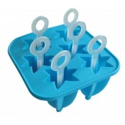 фото Форма из силикона для изготовления мороженого «Звезды»: 6 ячеек