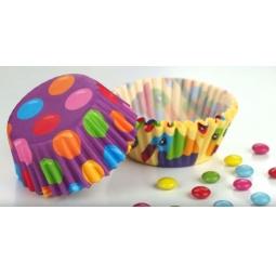 фото Набор форм для выпечки кексов «Детские мотивы» Tescoma Delicia. Диаметр: 4 см. Количество форм: 100