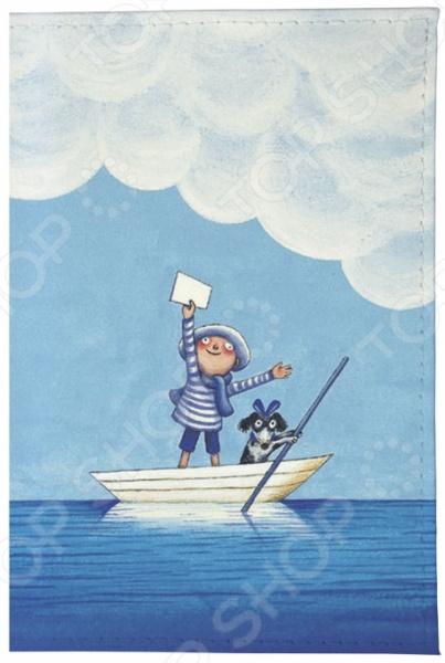 Обложка для паспорта кожаная Mitya Veselkov «Мальчик и собака в лодке»Обложки для паспортов<br>Mitya Veselkov Мальчик и собака в лодке это современная и ультрамодная обложка для вашего паспорта. Украшенная дизайнерским принтом с внешней стороны модель, предназначена для людей, которые хотят сделать жизнь ярче, красочней, а к традиционным вещам подходят творчески. Изделие подходит как для внутреннего, так и заграничного удостоверения личности. Изготовленная из натуральной кожи обложка, надежно защитит важный документ от внешнего воздействия, поэтому он всегда будет как новый. Придайте паспорту оригинальности и подчеркните свою уникальность!<br>