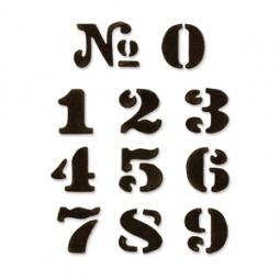фото Форма для вырубки на магнитной основе Sizzix Movers & Shapers Die Цифры