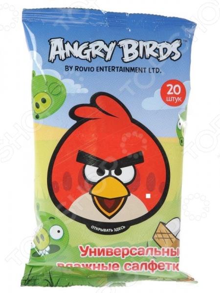 Набор салфеток влажных детских Авангард AB-48738 Angry Birds набор салфеток влажных антибактериальных авангард sf 70900