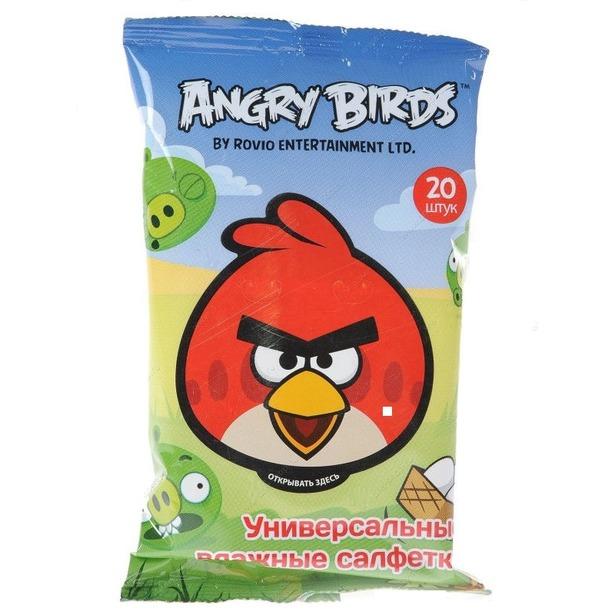 фото Набор салфеток влажных детских Авангард AB-48738 Angry Birds