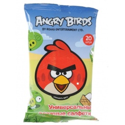 Купить Набор салфеток влажных детских Авангард AB-48738 Angry Birds