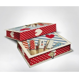 фото Шкатулка-коробка подарочная Феникс-Презент «Прищепки». Размер: M (20х14 см). Высота: 6 см