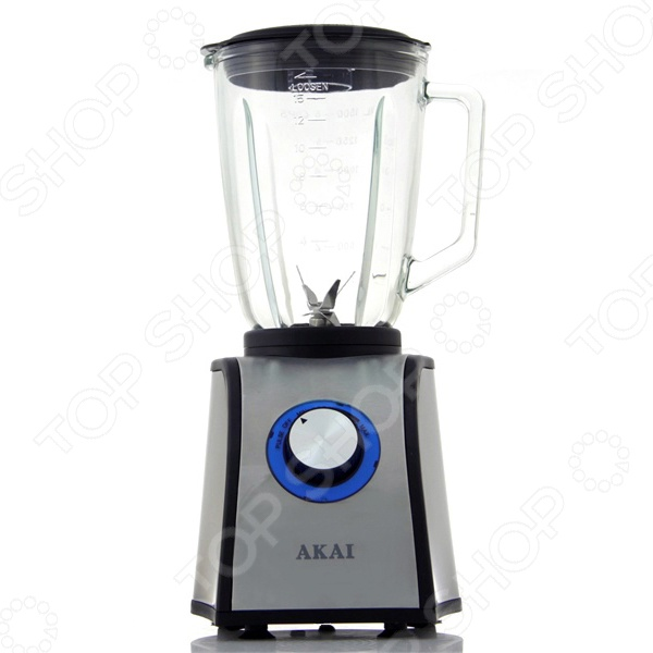 Блендер AKAI GB-1501XБлендеры<br>Блендер AKAI GB-1501X это мощный и простой в использовании блендер с современным дизайном. Благодаря компактным размерам он поместится в любом кухонном шкафу. За ним легко ухаживать: стеклянная чаша объемом 1,5 литра чисто моется и не темнеет со временем. Им легко управлять: есть всего один механический переключатель с плавным переключением скоростей и импульсным режимом. Идеально для тех, кто ищет простое и надежное устройство. С блендером AKAI GB-1501X вы сможете сделать фарш, измельчить орехи, взбить сливки, приготовить коктейль или соус, размолоть лед... Нож из нержавеющей стали справится с любой пищей. Добавляйте новые ингредиенты прямо во время работы через удобное отверстие в крышке. Благодаря мощному мотору с низким уровнем шума блендер быстро выполнит свою задачу, не отвлекая вас и домочадцев гудением. С прорезиненной нижней накладкой он всегда будет уверенно стоять на кухонной поверхности. А эстетичный серебристый корпус с синей подсветкой регулятора станет украшением вашей кухни. Для наибольшей безопасности предусмотрена защита от включения без чаши. Мерный стаканчик в комплекте.<br>