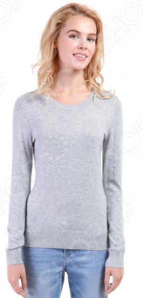 Джемпер Baon B136705. Цвет: серыйДжемперы. Кардиганы. Свитеры<br>Джемпер это не только универсальная, но и весьма демократичная одежда. В зависимости от кроя, цветовой гаммы и рисунка, он может стать частью как классического, так и casual-гардероба. Такая одежда не просто удобна и практична, она еще и легко сочетаема с другими предметами гардероба. Стильно и со вкусом Джемпер Baon B136705 подчеркнет ваш вкус и поможет создать стильный и гармоничный образ. Модель универсальна, прекрасно подходит для повседневного ношения и хорошо сочетается с брюками, джинсами и юбками. Меланжево-серый джемпер будет также и отличным дополнением вашего базового гардероба. Особенно эффектно он смотрится в сочетании с вещами белого, черного, розового и синего цвета.  Особенности модели:  приталенный силуэт;  длинные рукава с манжетами;  круглый воротник;  сезон осень-зима. В качестве материала используется трикотаж с добавлением ангоры. Ткань очень мягкая, шелковистая и приятная на ощупь. Добавление к вискозе полиамида делает материал еще более прочным и устойчивым к истиранию. Также стоит отметить высокое качество используемых красителей. Они долго сохраняют свою яркость и не теряют цвет даже после многочисленных стирок.  Будь в тренде! Одежда Baon это синоним качества и стильного современного дизайна. Компания занимается производством как мужской, так и женской одежды. Коллекции соответствуют лучшим европейским трендам, а модели адаптированы под самые актуальные модные тенденции. Хотите выглядеть модно и стильно Тогда вперед за покупками в Baon!<br>