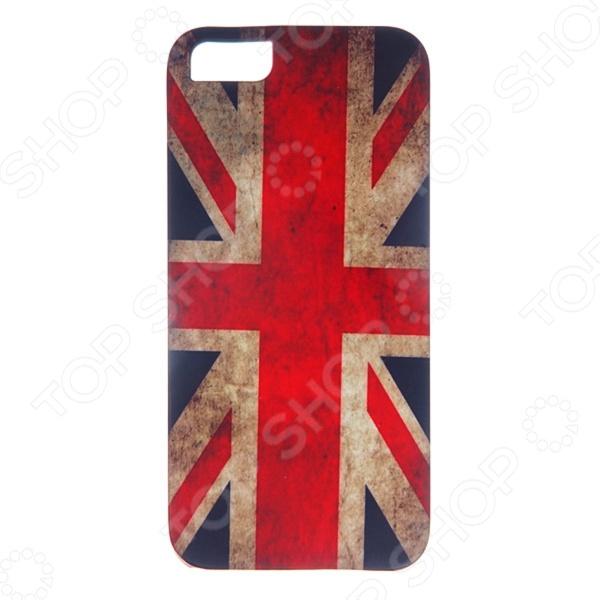 Чехол для iPhone 5 Mitya Veselkov «Потертый британский флаг» чехол для iphone 7 глянцевый printio русский флаг