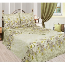 фото Комплект постельного белья Сова и Жаворонок «Авокадо». 2-спальный. Размер наволочки: 50х70 см — 2 шт
