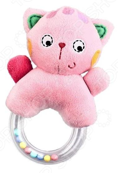 Игрушка-погремушка Жирафики «Кошка» 93635Погремушки. Подвески<br>Игрушка-погремушка Жирафики Кошка 93635 это милая игрушка, которая точно понравится вашему ребенку. Яркая игрушка привлечет внимание малыша, поможет ему расслабиться и отвлечься от неприятных впечатлений. Внутри есть погремушка, поэтому если ребенок потрясет игрушкой в воздухе, то он услышит приятный звон. Ребенку очень понравится играть с этой игрушкой. При игре с такой игрушкой ребенок развивает слух, зрение, мелкую моторику рук и тактильные ощущения.<br>