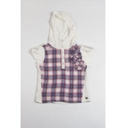 Купить Рубашка с капюшоном для девочки Fore N Birdie Crinkle plaid hoodie with knit inset