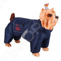 Комбинезон-дождевик для собак DEZZIE «Английский кокер». Цвет: синий комбинезон дождевик для собак dezzie такса карликовая цвет синий
