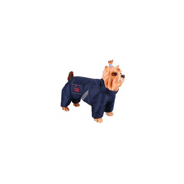 фото Комбинезон-дождевик для собак DEZZIE «Английский кокер». Цвет: синий. Материал подкладки: нет. Пол: кобель