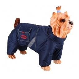 фото Комбинезон-дождевик для собак DEZZIE «Английский кокер». Цвет: синий. Материал подкладки: флис. Пол: кобель