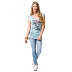 фото Футболка Mondigo 8539. Цвет: джинсовый. Размер одежды: 44