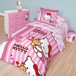 Купить Детский комплект постельного белья Hello Kitty 175668