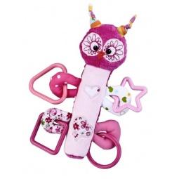фото Мягкая игрушка развивающая Жирафики «Сова с пищалкой»